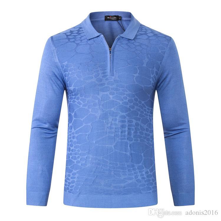 Kit * n nouveaux hommes chandail de laine 2020 mode d'affaires broderie Bouton Casual chaud de haute qualité couleur unie grand M-5XL Livraison gratuite