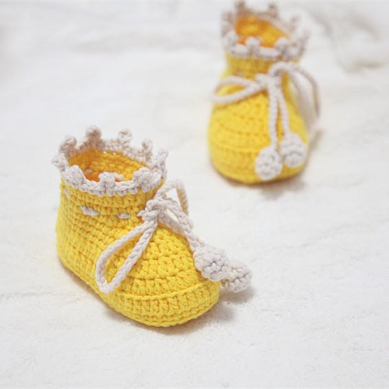 Hand Made Knitted Baby Shoes