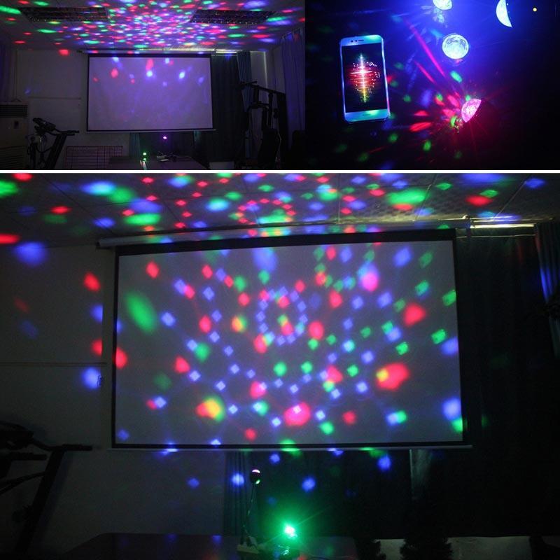 Brelong DJ 램프, 9 색 LED 무대 조명 RGB 회전 크리스탈 매직 볼 라이트 USB 디스코 1 PC