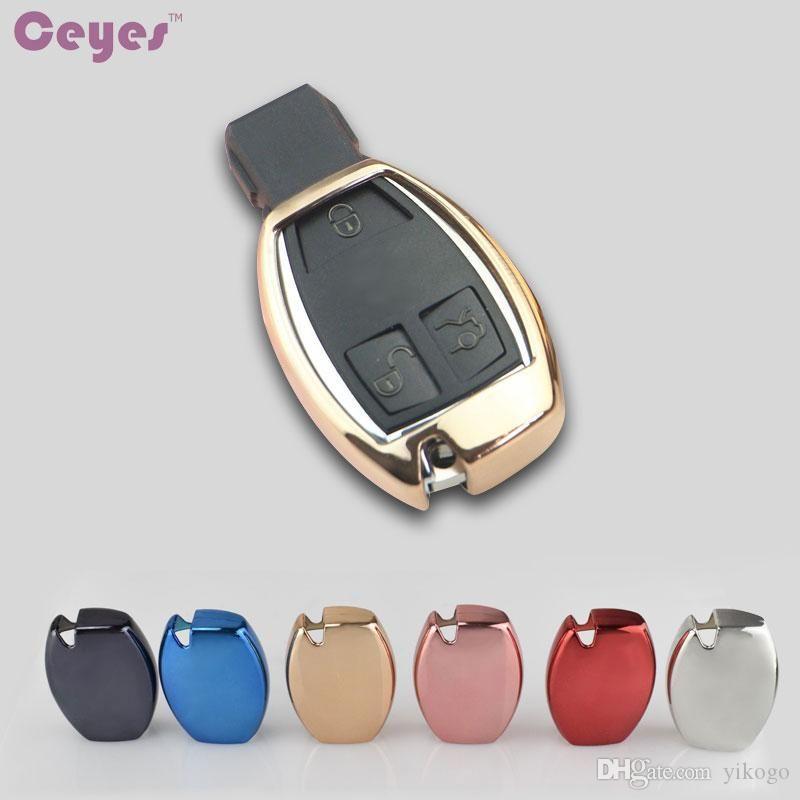 tecla carro chave tampa protectora concha TPU para classe Mercedes Benz A B C ABL C S E GLC GLK CLA ML GLE