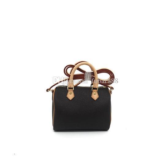 Spedizione gratuita! Canvas signora del cuoio genuino borsa tracolla messenger borsa del telefono cartella di modo nano borsa 61252