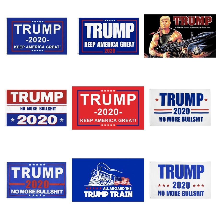 90 * 150см Дональд Трамп Flag 2020 Сделать Keep Us America Great Burlap Garden Flag Двухсторонний Премиум Ткань Открытый Украшение Баннер # 756