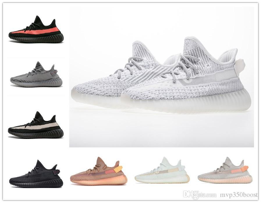 2019 Livraison Gratuite Static 3 M Beurre De Sésame Hommes Femmes Chaussures De Course Kanye West Beluga 2.0 Orange Bred BLEU TINT CRÈME sports 36-45