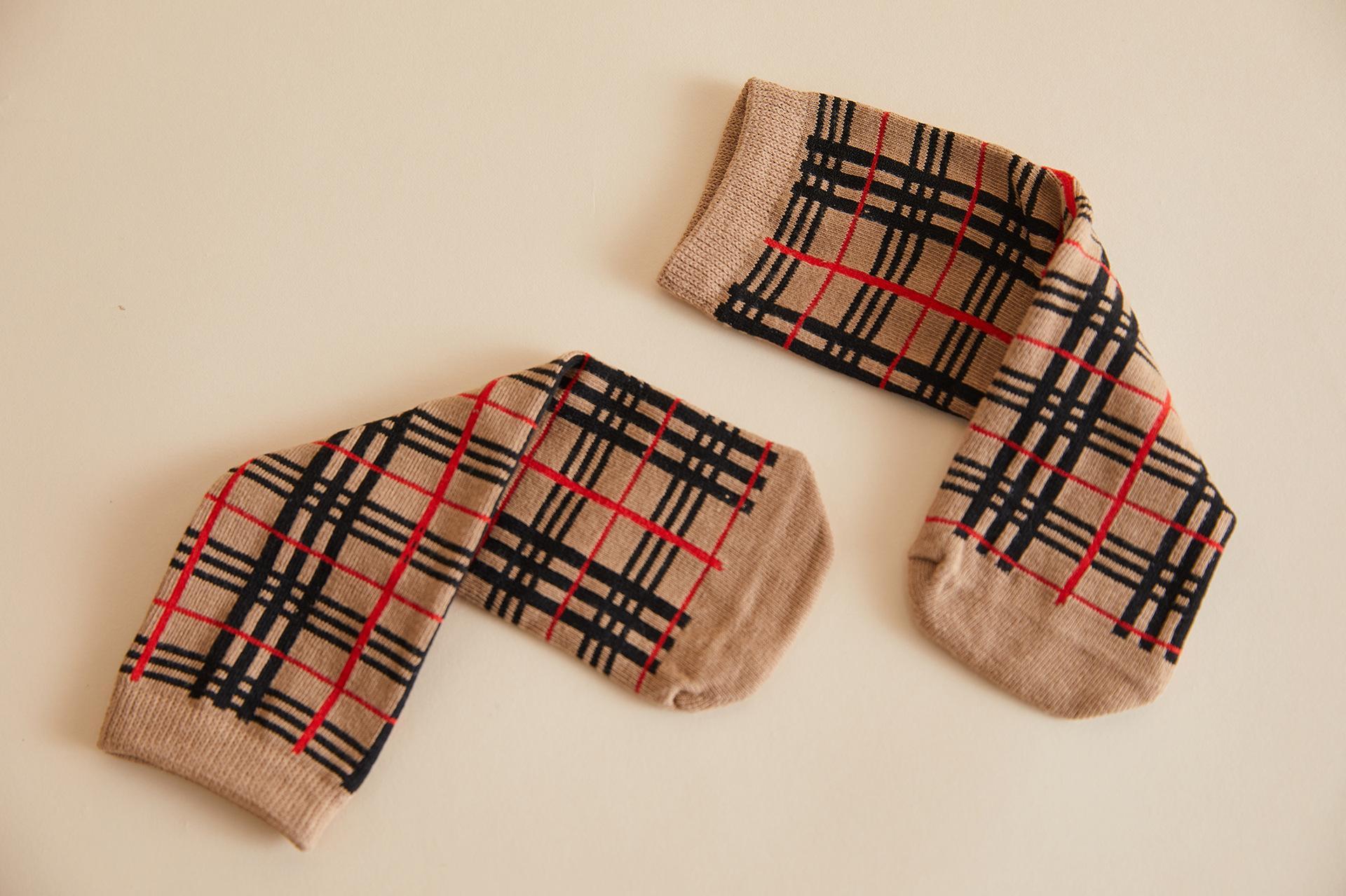 2019 новые зимние детские носки Японский институт ветра клетчатые полосатые чулки детские носки детские высокие носки