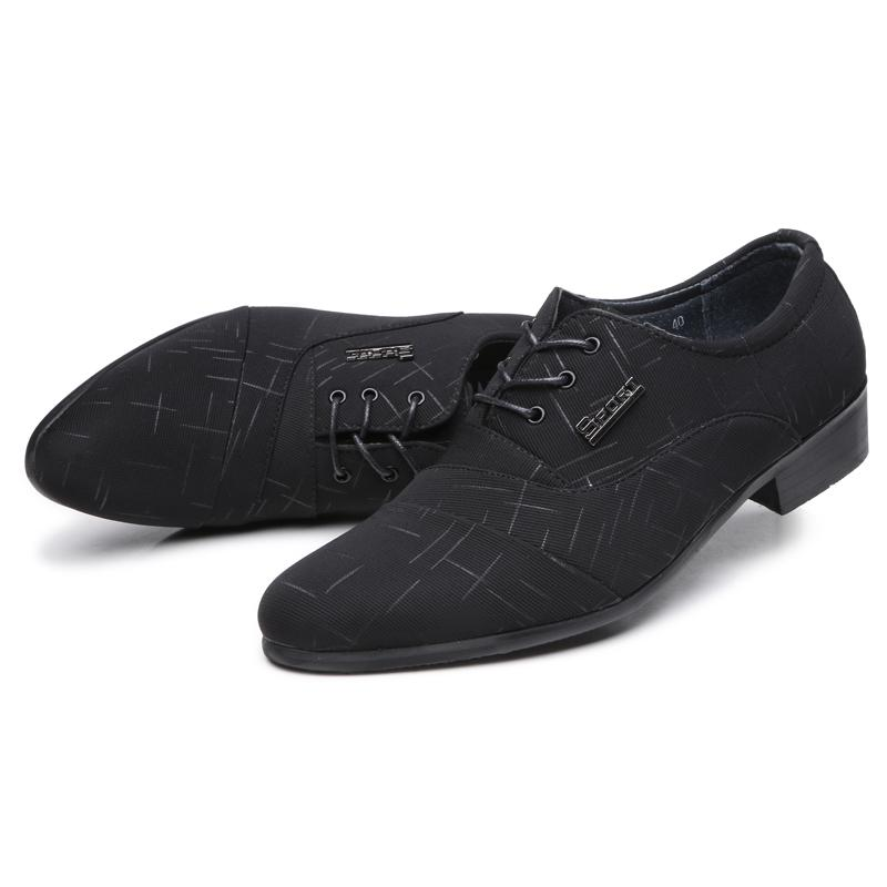 highly praised hot sales search for genuine Misalwa Fashion Office Mans Elegant Shoes Handcrafted Leather Low Heels  Boys Dress Shoes Lace Up Canvas Lining Black Suit Summer Shoes Womens  Loafers ...