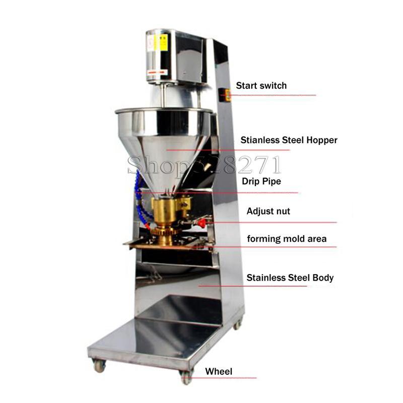 1100W comercial almôndega máquina de produção máquina do fabricante almôndega elétrica máquina de almôndega equipamento de cozinha fábrica diretamente venda
