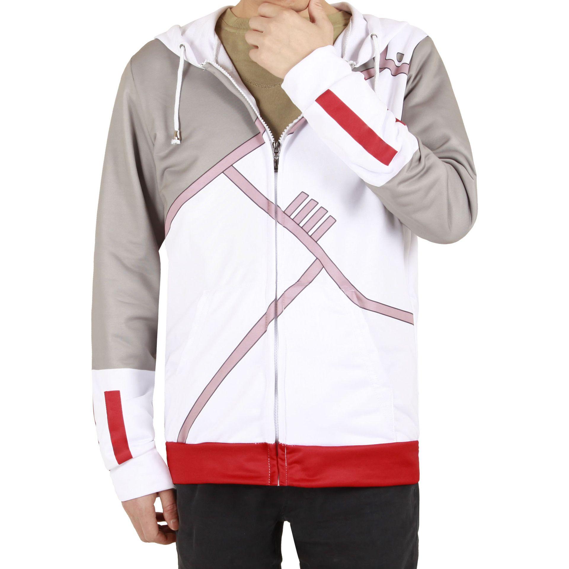 Tamaño asiático Japón Anime Naruto de manga larga de Halloween Cosplay informal traje deportivo Unisex Coat Jacket Hoodie