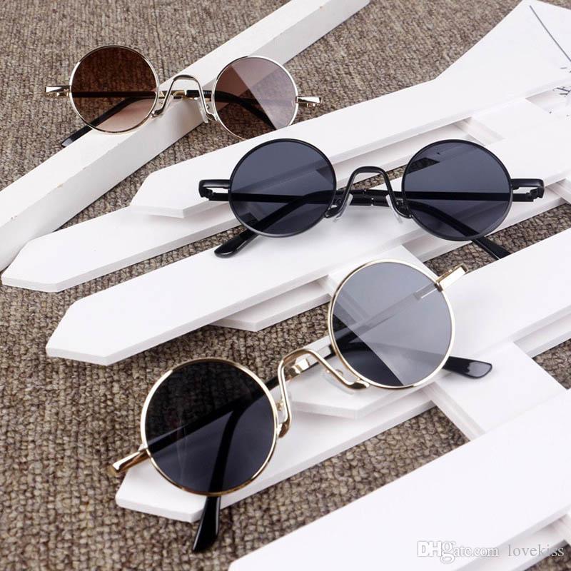 Lunettes de soleil rondes Boyes Beach Filles de protection UV 400 Adumbral Sun Enfants Sunglass Kids222