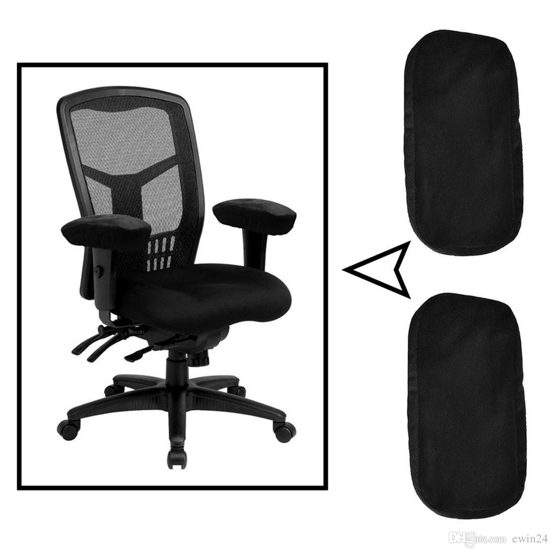 Ergonomic Memory Foam Office Chair Armrest Pads Comfy Gaming Chair Arm Rest Covers for Elbows and Forearms Pressure Relief(Set of 2)