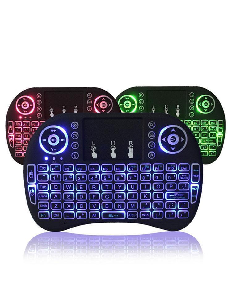 2020 Rii i8 Клавиатура дистанционного управления Мышь Combo 3 цвета подсветки LED 2,4 ГГц тачпад Клавиатура для WIFI Bluetooth Android TV BOX