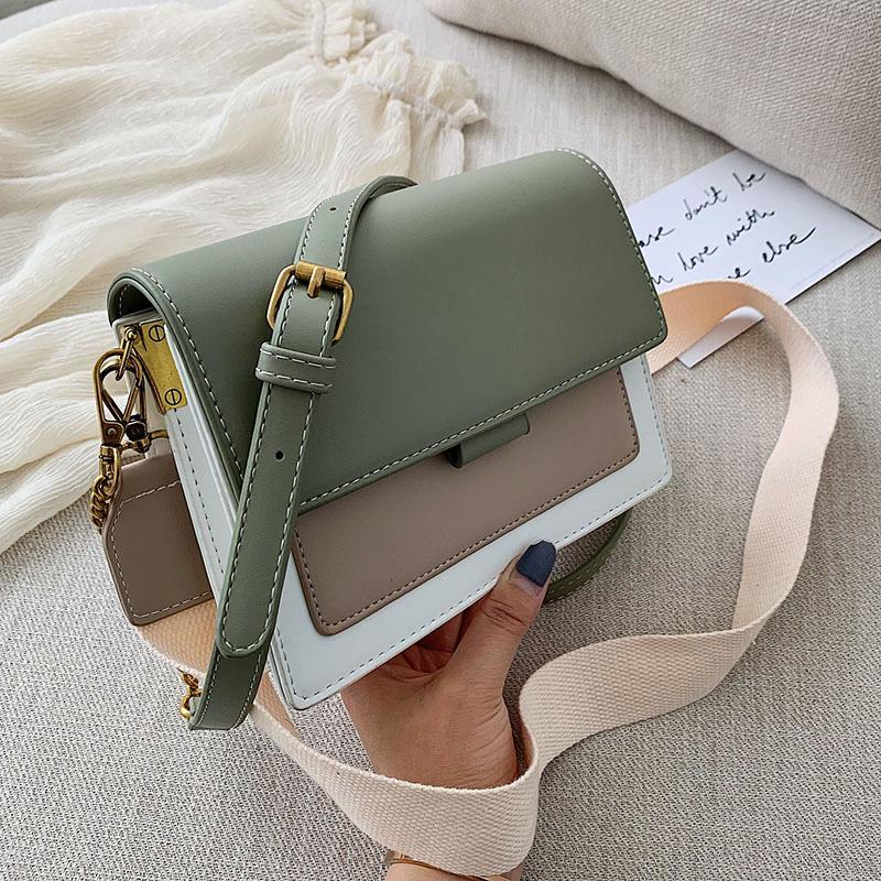 Мини-сумки кожа Crossbody для женщин 2019 Зеленый цепи плеча сумку Lady Travel Кошельки и сумки Креста тела сумка Y191023