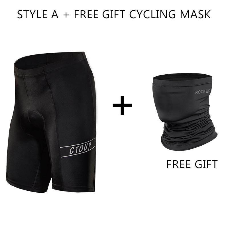 SPAKCT Black Men Compression Cycling Pants Tights Trousers Shorts with Padded