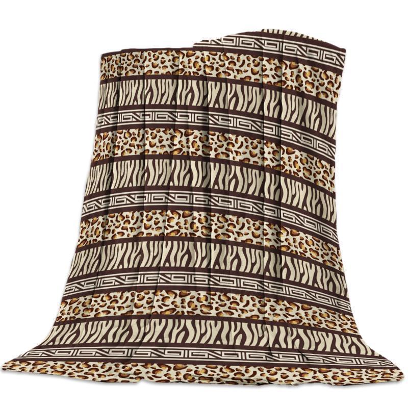 Peau animale Patchwork Couleur Leopard Nap Couverture souple super Throw confortable molleton Couverture Couvre-lit pour canapé Throw Voyage