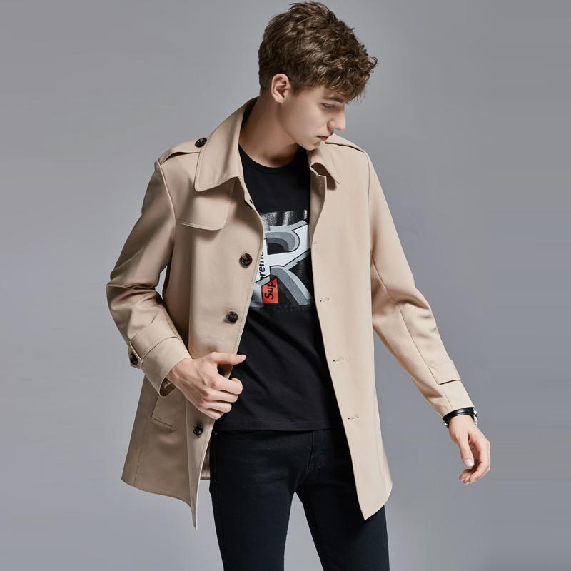 Men Jackets Men Luxury Solid Color Turn-down Collar Mens Jackets And Coats Single Breasted Slim Fit Male Coats Plus Size