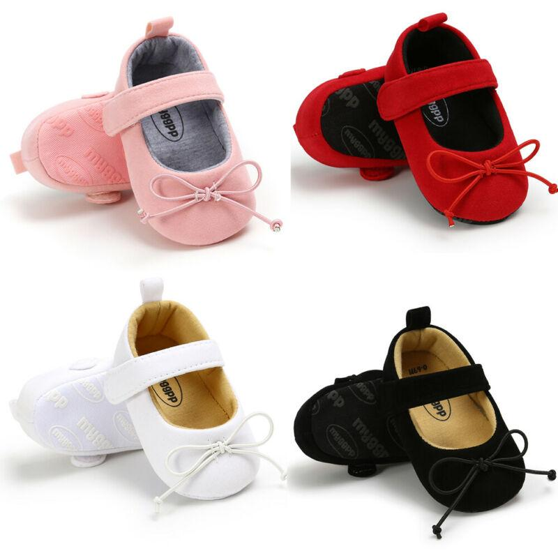 DEBAIJIA Baby Girl Princess Shoes Child Bowknot Gum-Rubber Outsole Anti-Slip Leather Suitable for 1-7T Infant Toddler Flat Shoe