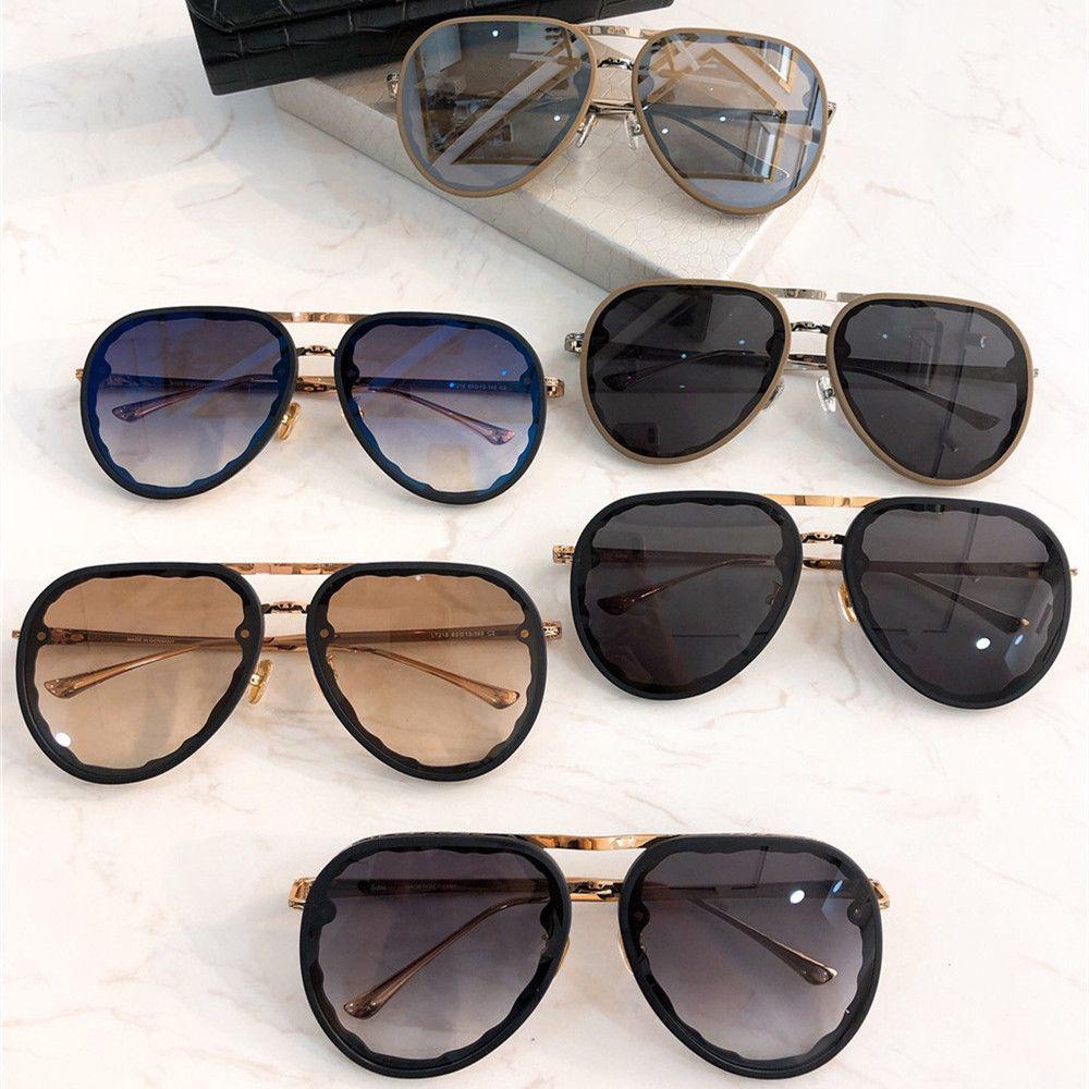 럭셔리 선글라스 빈티지 브랜드 특대 파일럿 안경 100 % 자외선 보호 패키지와 패션 Eyewear 새겨진 타원형 선글라스