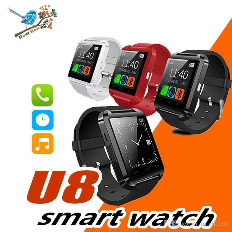 Smartwatch U8 Bluetooth Montre Smart Watch Montre-bracelet Pour IPhone IOS Android Smart Phone Wear Horloge Portable Dispositif Smartwach