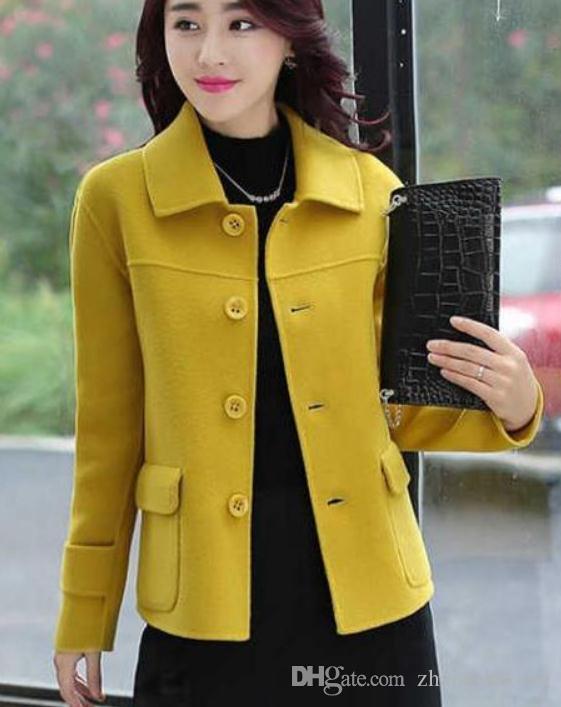 Yeni stil @ 01 ile kışın 2019 kadın yün ceket