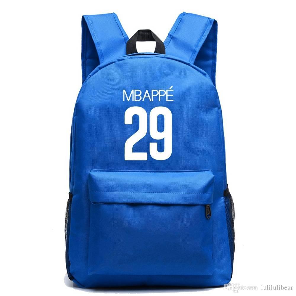 المراهقون سعة القدم قماش كبير mochila الفتيان حقيبة السفر مدرسة اجتماعيون ل mbapee الكرة محمول حقيبة الفتيات krkgf