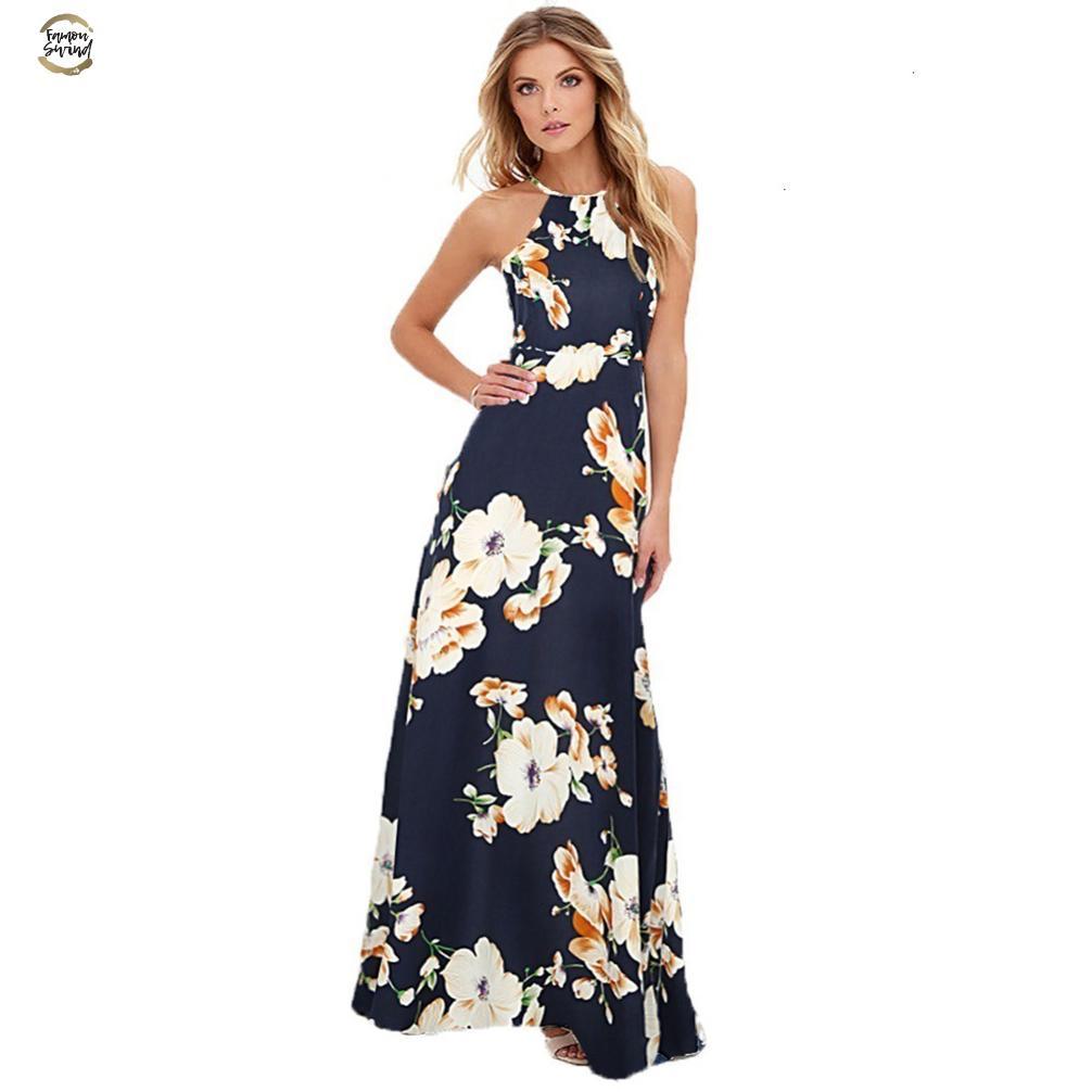 Длинные платья макси лета платья женщин Цветочные печати Boho платье плюс размер рукавов Beach Holiday платье Женский листок бумаги с поправками к патенту, прикрепленный к патентному описанию дизайнера одежды