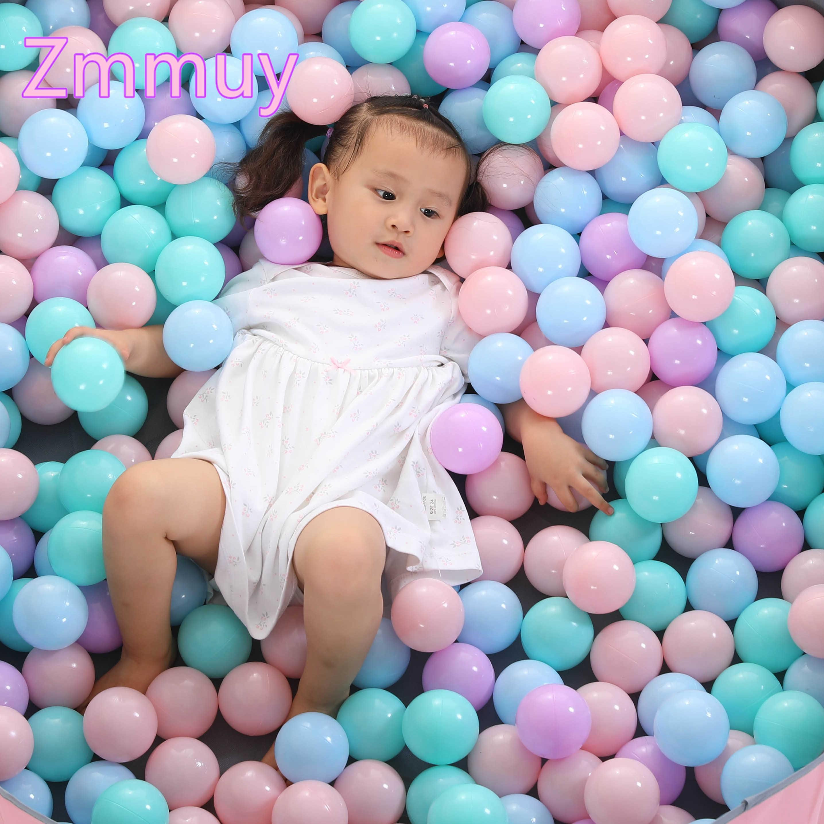 50 Pcs or 100 New Colorful Plastic Balls Toys Water Soft Ocean Wave Balls for The Pool Baby Swim Pit Toys Outdoor Sport Air Ball SH190913