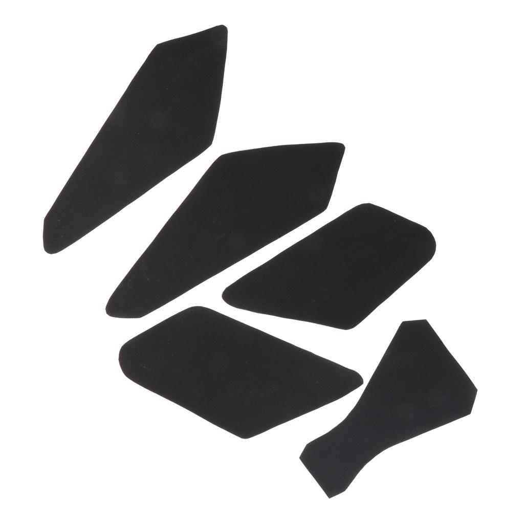 5x Black Tank Traction Pad Side Gas Knee Grip Protector for Kawasaki Z900, PU Leather