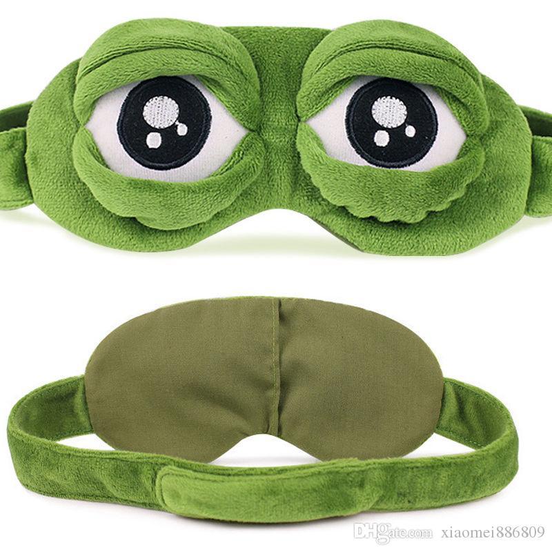 Engraçado dos desenhos animados do sono macio máscara animal bonito Olho da rã Tampa Super Macio Blindfold Eye Dormir faz para Crianças Adultos