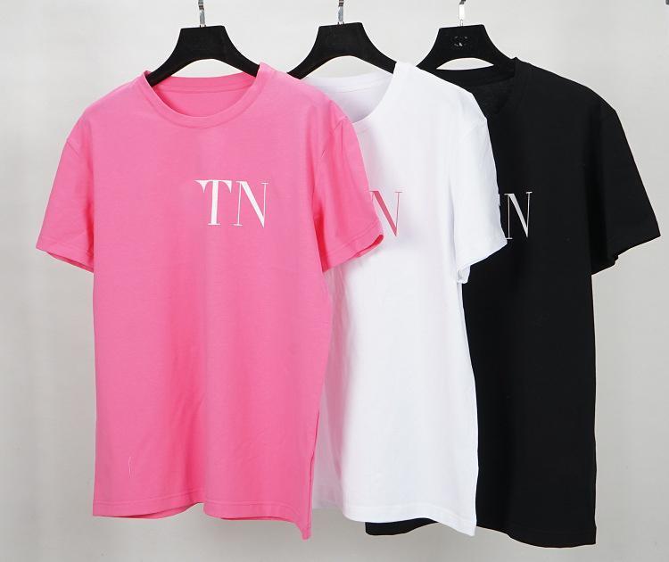 100% algodón de calidad superior nueva marca de diseñador de moda de verano tee camiseta para hombres mujeres ropa letra de la impresión famosa