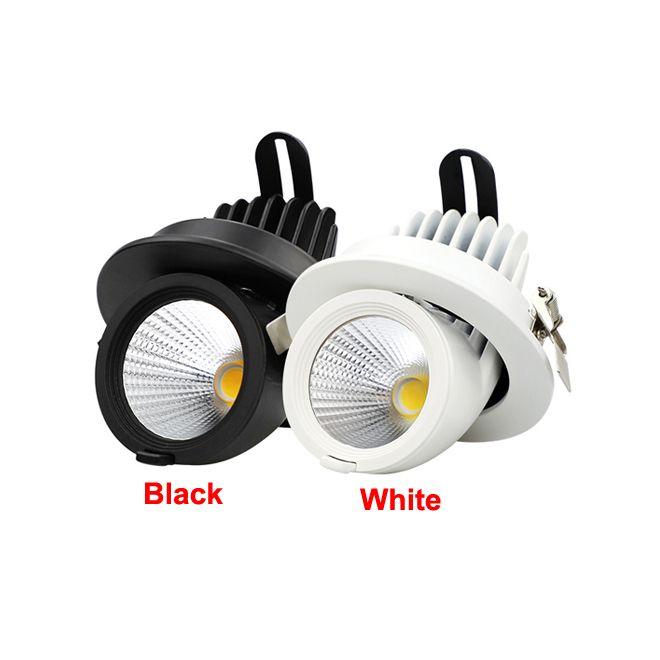 7W 15w 20w 30w 40w led down lights High power COB downlights супер яркий регулируемый угол встраиваемые потолочные светильники светодиодные светильники