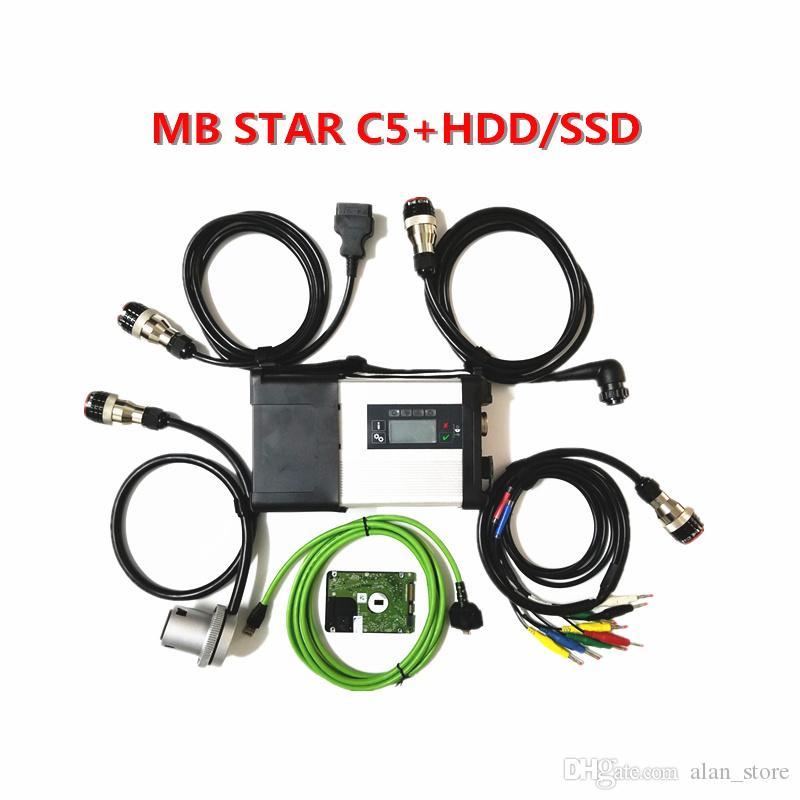 MB SD SD estrela C5 Ligação com 2019,09 completo macio-ware X-E.NT.RY / D-A.Ş / W-E-IS P.C ferramenta HDD ou SSD MB ESTRELA C5 Scanner de diagnóstico com WIFI