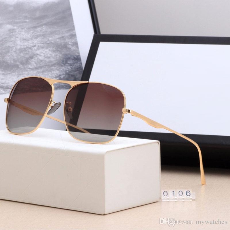 Popular men pilot style sunglasse top Polarized sun glasses Outdoor Driving Gold plated sun glasses UV Protection Lens eyewear