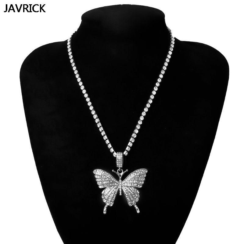 Desatando totalmente joyería pendiente de la mariposa hacia fuera helado el cristal pavimenta la mariposa colgante de circón cúbico 3D de manera para la señora de las mujeres