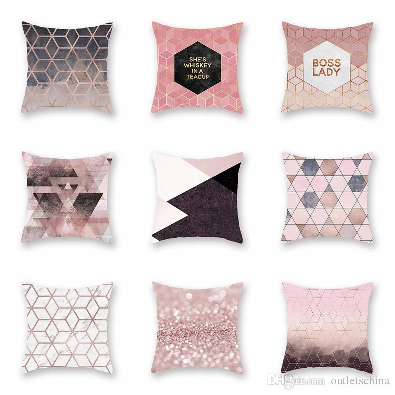 Geometric Boss Lady Leaves Design Home Decor Sofa Square Throw Pillow Cover Case Home Décor Indian South Asian Home Décor Pillows