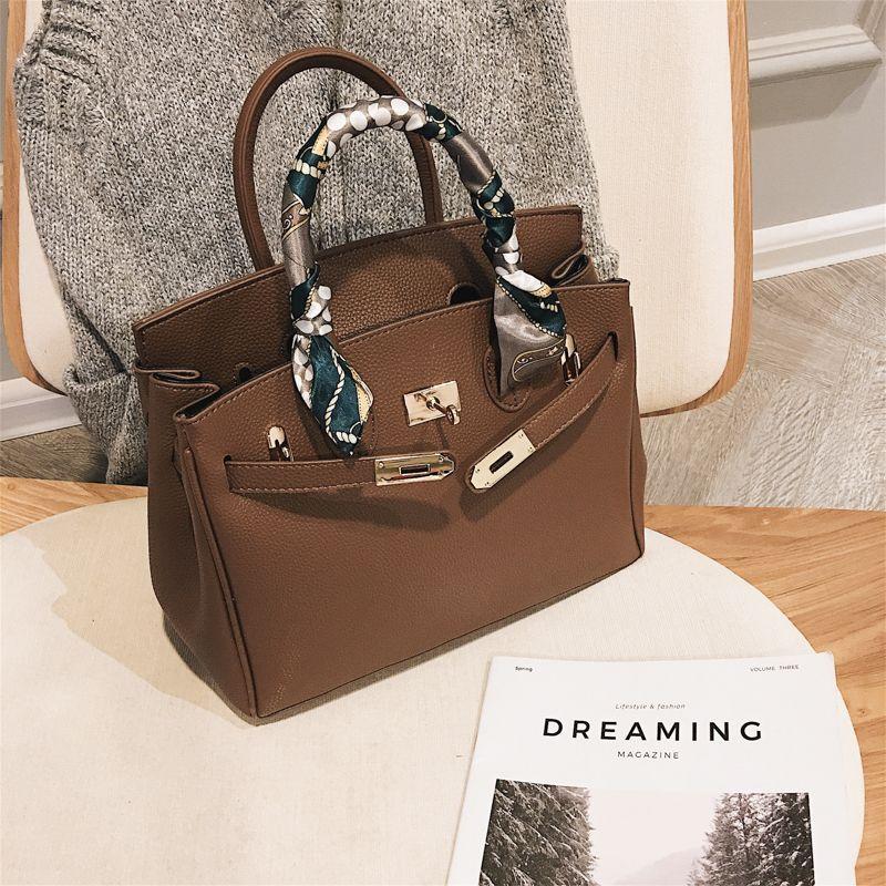 Diseñador-lujo de las mujeres bolsos de diseño Scraf hombro de cuero de los bolsos del mensajero de gran capacidad del bolso de Crossbody para las mujeres Bolsa Feminina Sac
