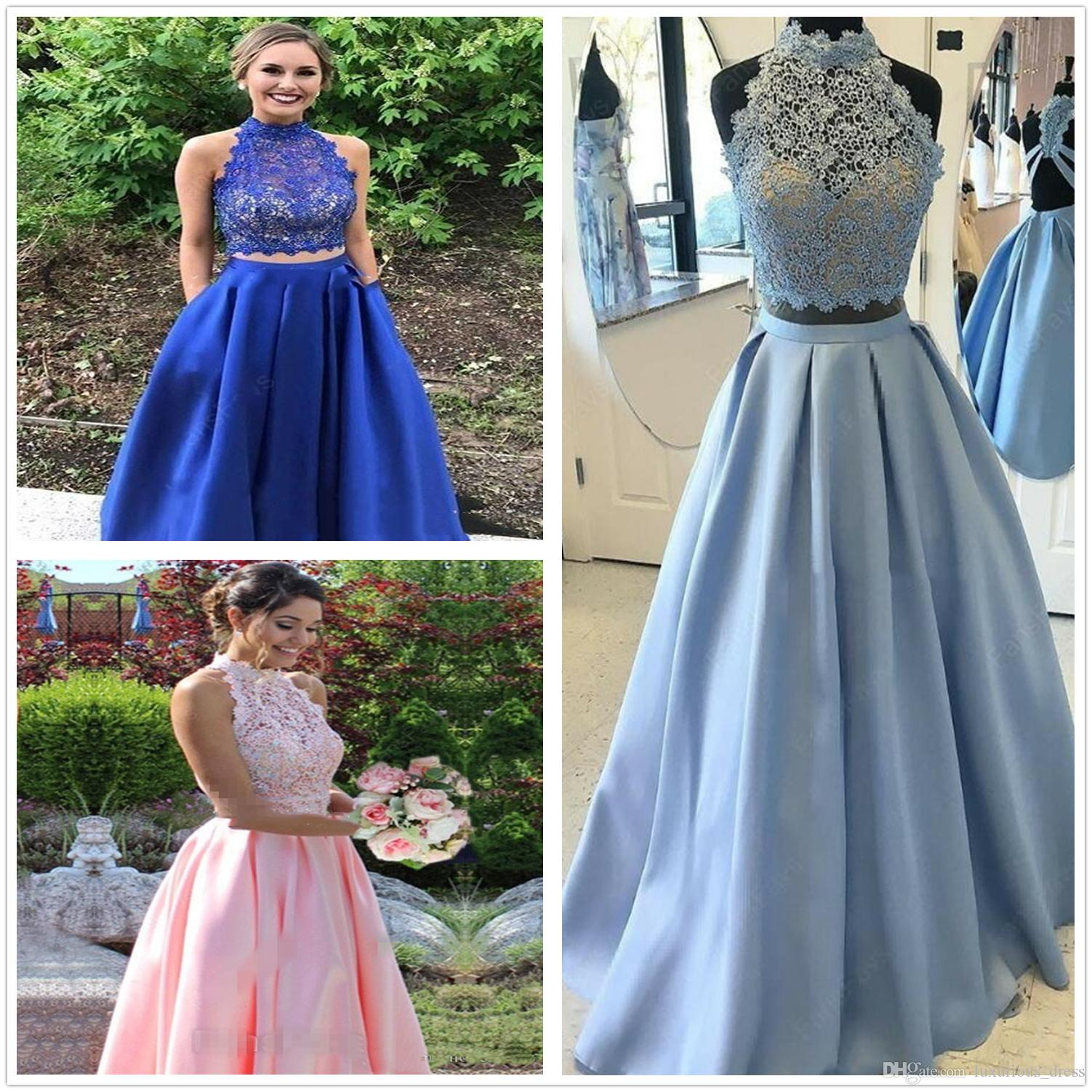 Jewel Top Beaded Graduation Dresses Long Puffy Sequin Crystal Floor Length Prom Gowns Couture Keyhole Back Dresses Evening Wear Real Party