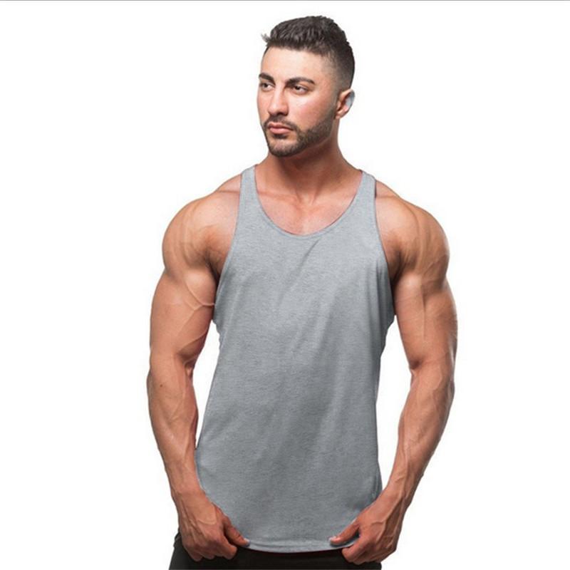 Tops de tanques para hombres 2021 gimnasios para hombre camiseta Sporting desgaste Mascate Culturismo Hombres Fitness Ejercicio Ropa Chaleco Camisa sin mangas