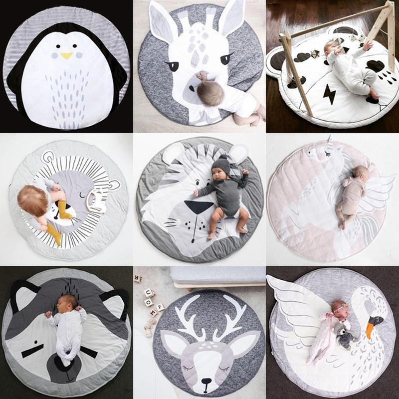 Baby Gyms Playmats Crianças Animal Série Almofada Recém-nascidos Infantil Algodão Macio Play Pad Bebê Crawling Pad Creeping Escalada Tapete J190508