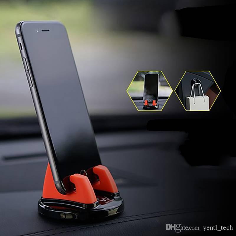free shipping yentl 360 Degree Rotation Silicone Car Accessory Car Ornament Universal Phone Holder