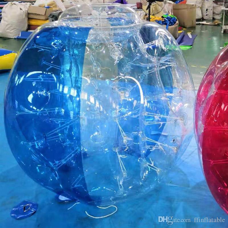 150 만 클리어과 파란색 빨간색 녹색 PVC 풍선 범퍼 공 영국 투명 풍선 버블 몸 Zorb 공 축구 범퍼 축구 다채로운