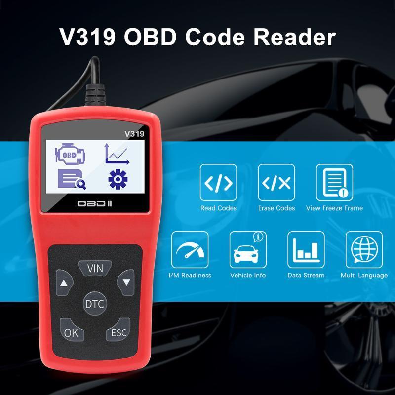 OBD2 V319 Full OBD 2 V1.5 Engine Code Reader Creader OBDII Car Auto Diagnostic tool obd2 Automotive Scanner ELM327