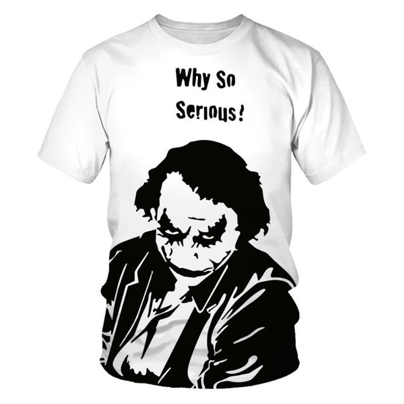 Джокер клоун 3D печать Белый t рубашка лето Мужчины Женщины Harajuku футболки fortniter негабаритных футболки мальчиков подростковая футболка с коротким рукавом