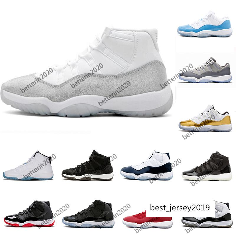 2019-2020 metallic silver Concord 45 prom night XI 11s 11 Cap and Gown Men women Basketball Shoes bred space jam Mens Sports sneakers