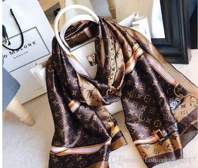 Las bufandas bufanda de seda caliente de Pashmina entre mujeres y hombres de alta calidad de la marca Summer Long Neck otoño Wrap 180x90cm Chales