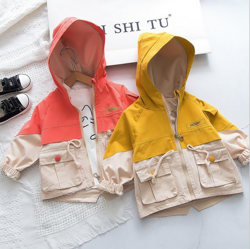 2020 nuova primavera cappotto all'ingrosso dei ragazzi delle ragazze della rappezzatura del manicotto pieno giacca ragazze dei capretti 2-7T