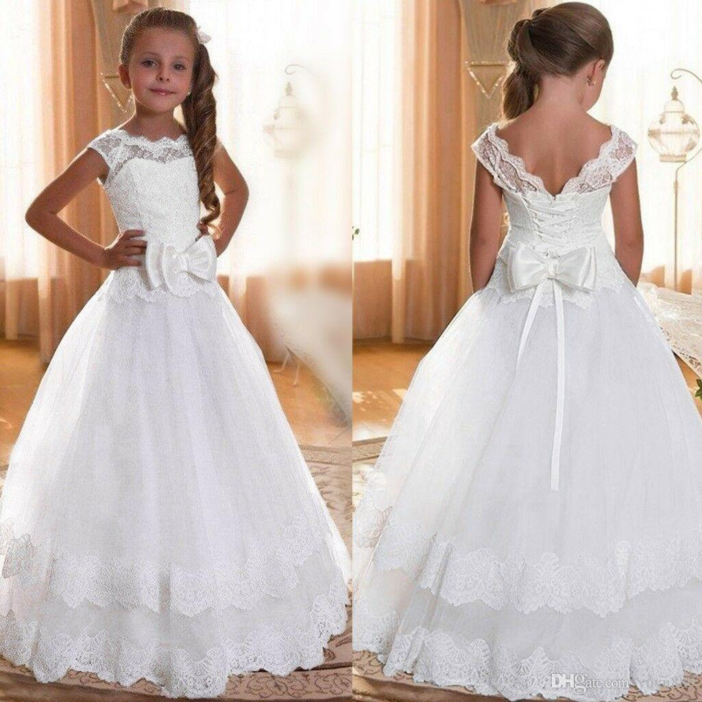 Flower Girls Formal Pageant Wedding Dresses Bridesmaid Formal Party Prom Dress