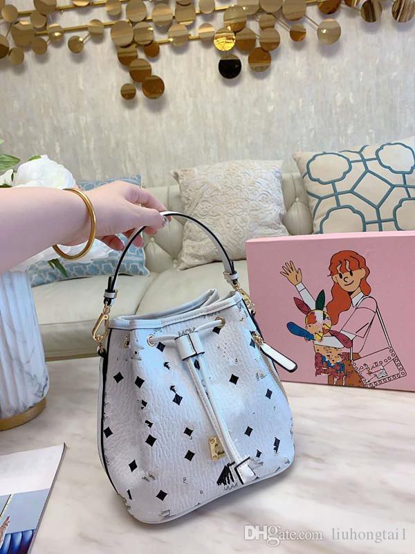 Çanta Moda Kadın Paketi Baskı Küçük İpli Kepçe Çantalar Kadın Joker Bir Omuz aslant Çanta Çantalar Çok Fonksiyonlu