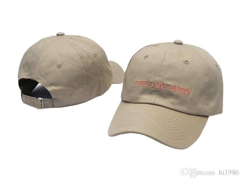 Kanye West Wear I Feel Like Pablo Letter Embroidery Curved Daddy Hat,Casual Fashion Like Lebron Kobe Leisure Outdoor Golf Cap