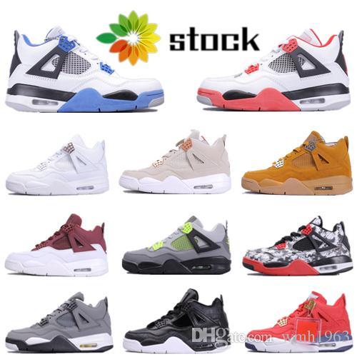 Da Hot Sale New Red 4 Mens tênis de basquete Bred Branca 4s cimento IV Designer sapatilhas esportivas Running Shoes Mulheres Trainers Tamanho 36-46