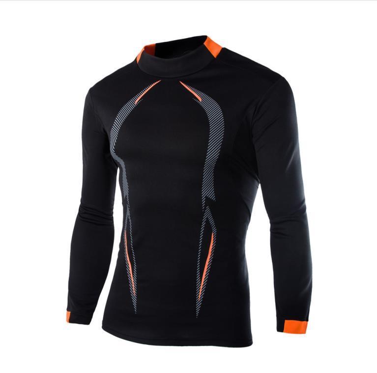 Mens apertado estiramento secagem rápida Tees Listrado Impresso skinny slim Homens ciclismo camiseta machos Designer Tops do pescoço de grupo
