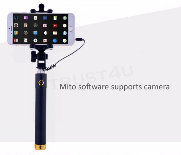 Mini Extendable Folding Wired Selfi Self Selfie Stick portable Monopod For Samsung Galaxy S5 Note3 iphone 6 5S Perche Selfies Selfiepod